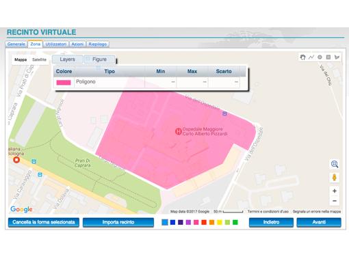 delimita una determinata area e ricevi un avviso automatico quando l'oggetto monitorato entra od esce dall'area impostata