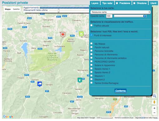 imposta punti di interesse (POI) nella piattaforma di tracciamento GPS