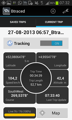 btraced tracking app per smartphone android tracking cloud platform mywakes