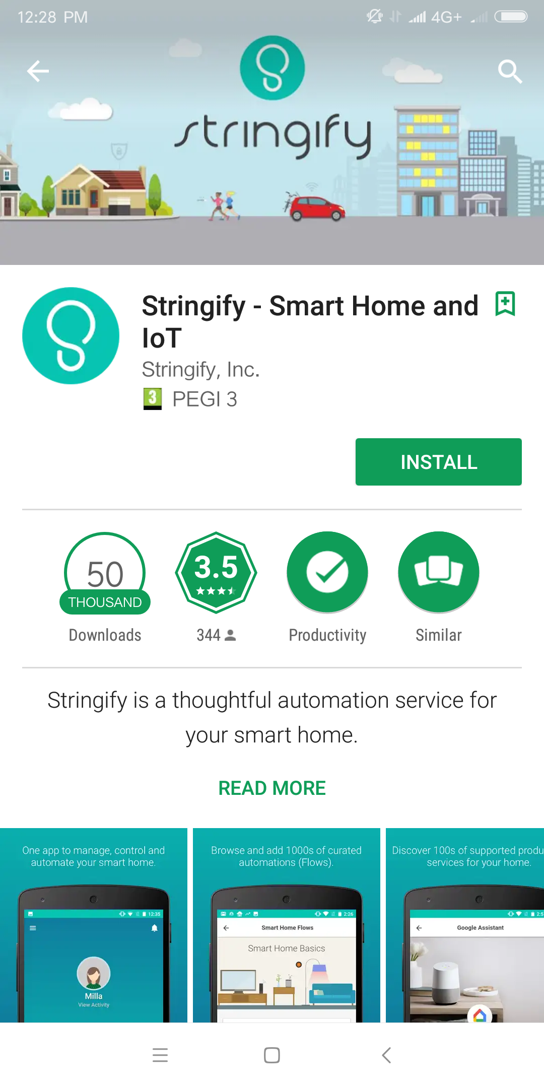 IOT stringify install app apple ios android smartphone