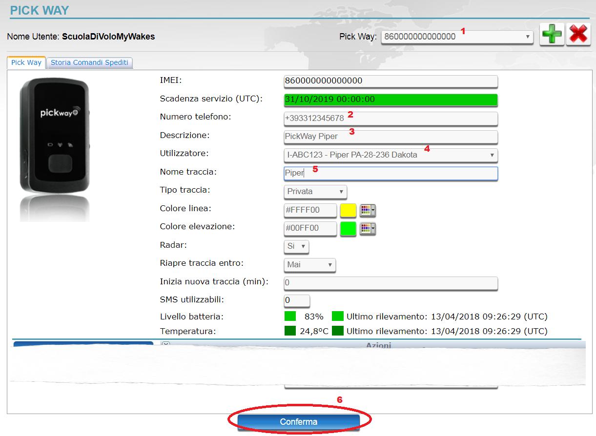 imposta tracker dispositivo gps installato sugli aerei e ultraleggeri